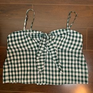 Club Monaco Strappy Gingham Tank Top 💚